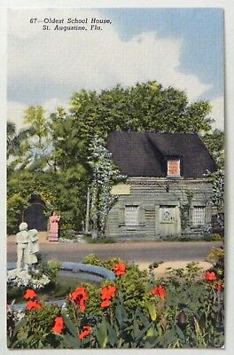 The Oldest School House, St. Augustine, Fla 1930-45 Postcard D261