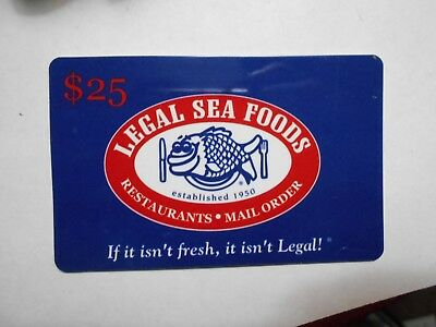 NO VALUE-Collectible Gift Card-Memorabilia-LEGAL SEAFOODS
