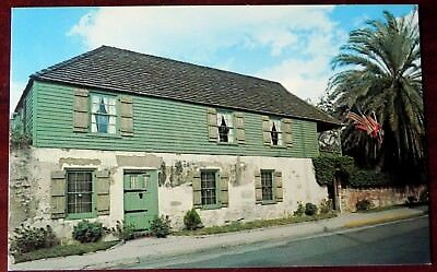 Postcard The oldest house in St. Augustine Fla A88