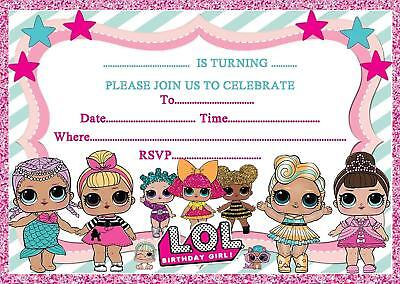 Lol Birthday Party Invitations Invites Kids Girls Childrens 2