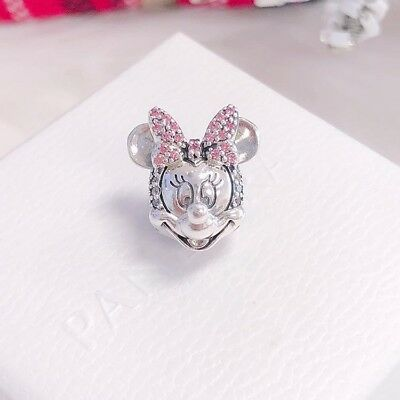 NEW Authentic Pandora Disney, Shimmering Minnie Portrait CZ Clip Charm 797496CZS
