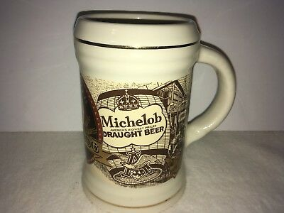 Michelob Draught Beer 100Th Anniversary Stein/mug Free Shipping! (14)
