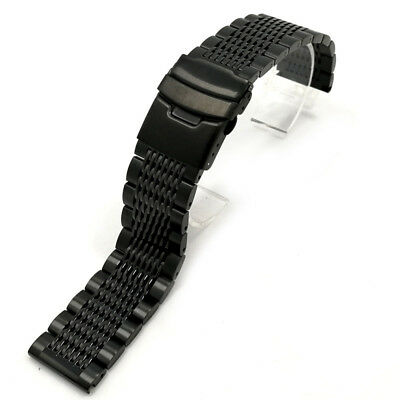 New Stainless Steel Double Clasp Strap Replacement Wrist Watch Bracelet Band 1pc