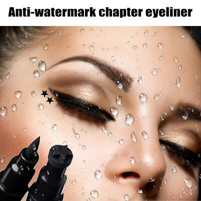 Cosmeticos Impermeable Maquillaje null Tattoo Stamp Doble cabeza Eye Liner Pen