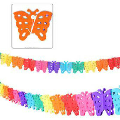 Multi Colors Flower Bow Shape Hanging Decoration Dots Garland for Celebrations B