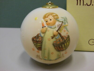 "Hummel Christmas Angel Ball Ornament 3""  NIB  930013 Goebel"