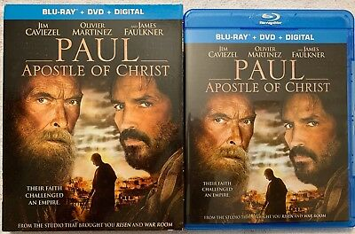 Paul Apostle Of Christ Blu Ray Dvd 2 Disc Set + Slipcover Sleeve Free Shipping