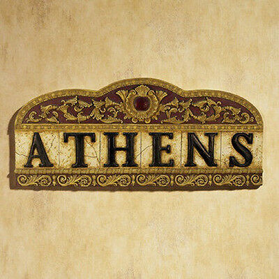 NEW! Classic Greek & Roman Textured Athens (Greece) Decorative Wall Plaque Sign