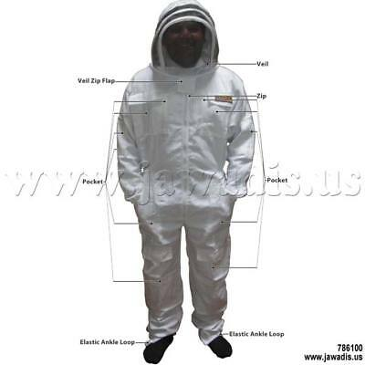 5XL Jawadis White Beekeepers Beekeeping Bee Suit Cheap Pest Control & Carry Case
