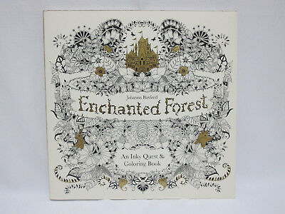 NEW Enchanted Forest: An Inky Quest & Coloring Book by Basford, Johanna