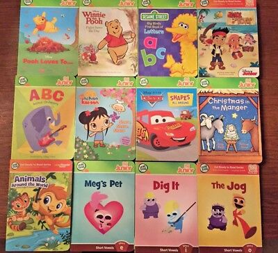 Leapfrog Tag Jr + Leap Reader Jr Board Books Disney, Nickelodeon, Vowels + more.