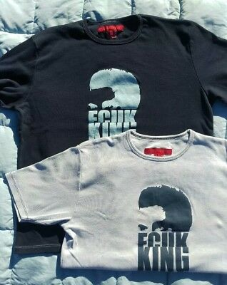 Pair of Blue French Connection (FCUK)Tee-Shirt Long & Short Sleeve T (Large) L