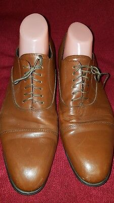 528e6082c7a6 Saks Fifth Avenue Made In Italy Brown Men Soft Leather Shoes Size Us 10  Euro 43