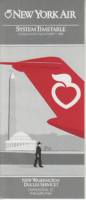 New York Air timetable 1986/10/01