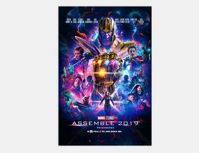 Z-18 Avengers 4 The End Game Movie 2019 Brie Larson Silk Poster 36x24 45x30