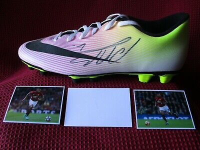 Antonio Valencia Manchester United Legend Hand Signed Nike Boot- Photo Proof