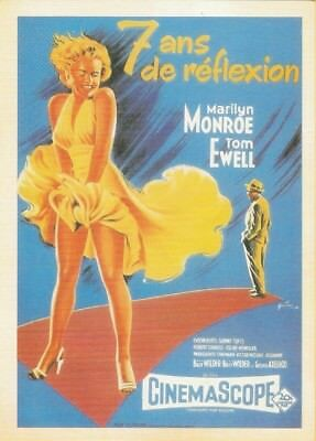 VINTAGE MOVIE POSTER REPRO POSTCARD : THE SEVEN YEAR ITCH Marilyn Monroe