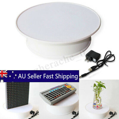 Motorized Rotating Display Stand Jewelry Turntable Electric Loading White AU