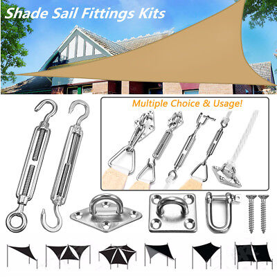 Sun Shade Sail Fixings Fittings Kits Stainless Steel Accessory Awning Canopy Hot