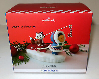 Frosty Friends Porcelain Figurine Hallmark Keepsake 2017 Brand New Christmas