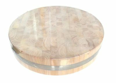 ROUND WOODEN CHOPPING BOARD Ø36cm-Ø55cm - HEAVY DUTY LARGE, THICK GINGKO WOOD