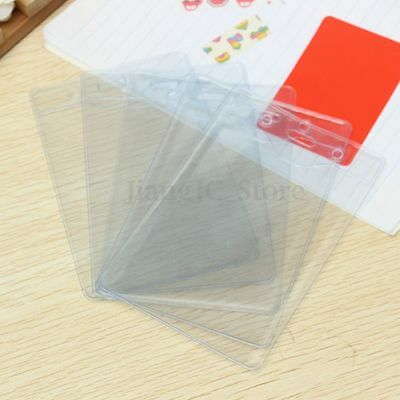 20x Clear Plastic Vertical Pouch Wallet ID Security Pass Holder Ticket Pocket