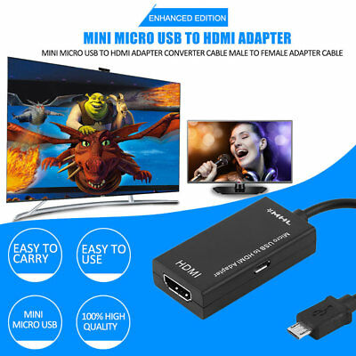 k_Mini Micro USB To HDMI Adapter Converter Cable Male To Female Adapter S6