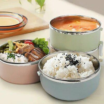 Compact Size Lunch Box Thermal For Food Bento Box Stainless Steel Lunch Box S6