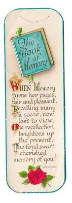 Valentine and sons' Bookmark. Early 20th century. Made in Great Britain.