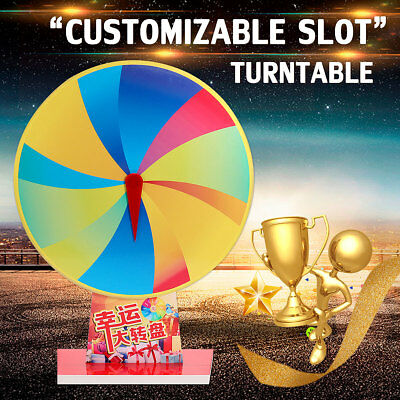 16'' Tabletop Color Prize Wheel Carnival 12 Slot Spin Game Tradeshow Dry Erase