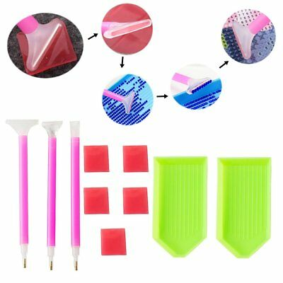 Diy Diamond Painting Accessories Cross Stitch Embroidery Pen Tray Glue Kit S6