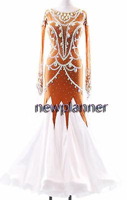 B7608 women Waltz Tango Rhythm Foxtrot swing standard dance dress UK 8