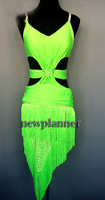 D102 Competition Rumba Salsa Latin Smooth Cha Samba Dance Dress Tailor Made
