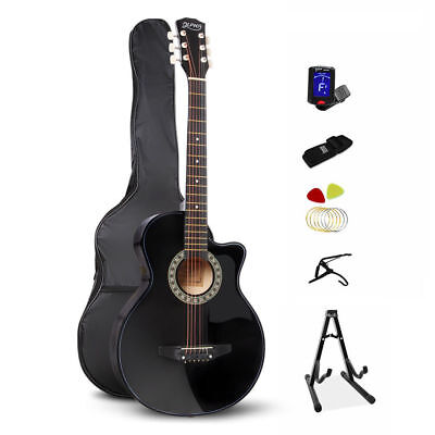 """ALPHA 38"""" Inch Wooden Folk Acoustic Guitar Classical String Capo Bag Stand"""