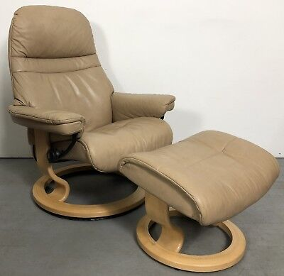 Ekornes Stressless Modern Paloma Leather Recliner Chair Large Sized