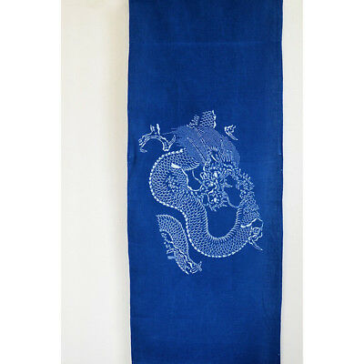 Japanese Indigo-dye Tenugui, fashionable towel,  Dragon design