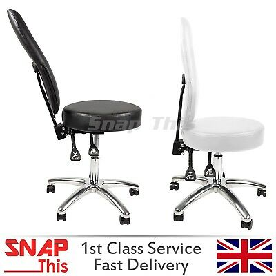Adjustable Swivel Office Chair Comfort PU Leather Pad High-Back Computer Desk UK