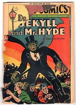 Classic Comics #13 - Dr. Jekyll and Mr. Hyde Edition 4, HRN 28, Fair Condition