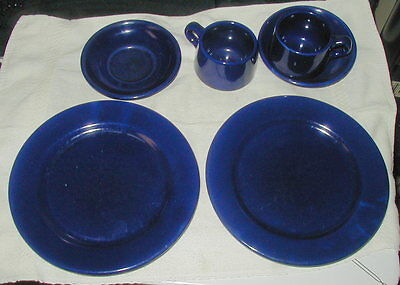 Vintage Lot Of Shenango China Gala Ware In Cobalt, Plates,  Cups, Saucers !!