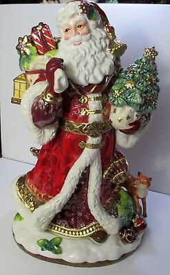 Fitz & Floyd Santa Figurine Center Piece 19 in Tall Christmas Holiday NOS #D48