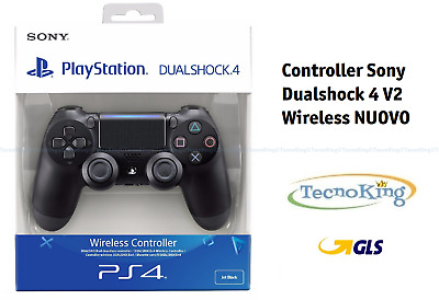 Controller PS4 Playstation 4 Dualshock 4 V2 Nero Nuovo Joypad Joystick Originale