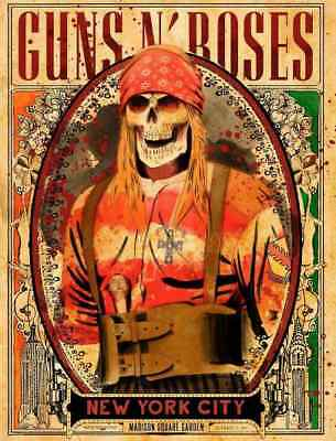 "GUNS N ROSES : "" AXL , NEW YORK "", ""Not in this lifetime tour"" !!"