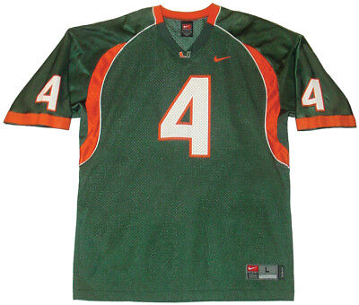 Vintage Nike Football Jersey L DEVIN HESTER UNIVERSITY OF MIAMI Hurricanes  Canes a93b0171a