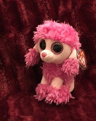 """Ty Beanie Boos Pink Poodle Patsy 6"""" Baby NWT Dog Puppy Stuffed Animal  Patsey Toy 43921f20f363"""