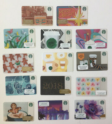 14 NEW STARBUCKS Gift Cards COLLECTIBLE NO VALUE