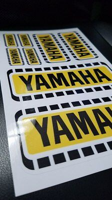 Yamaha vintage motocross sticker decal pack, (8) retro YZ AHRMA VMX