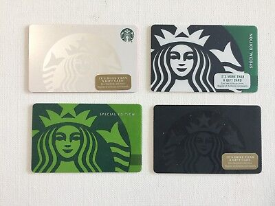 "4 NEW STARBUCKS ""The Statue of Liberty"" Gift Cards COLLECT NO VALUE"