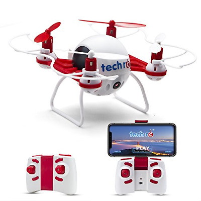 Tech RC Mini Drone with HD Camera Live Video RC Quadcopter with Altitude Hold, &