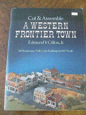 Dover Cut & Assemble A WESTERN FRONTIER TOWN H-O SCALE Model