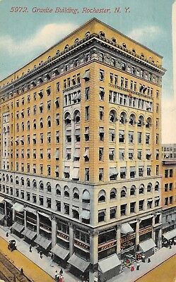 Rochester New York 1911 Postcard Granite Building
